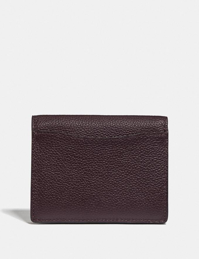 Coach Small Snap Wallet Gd/Oxblood Women Small Leather Goods Small Wallets Alternate View 1