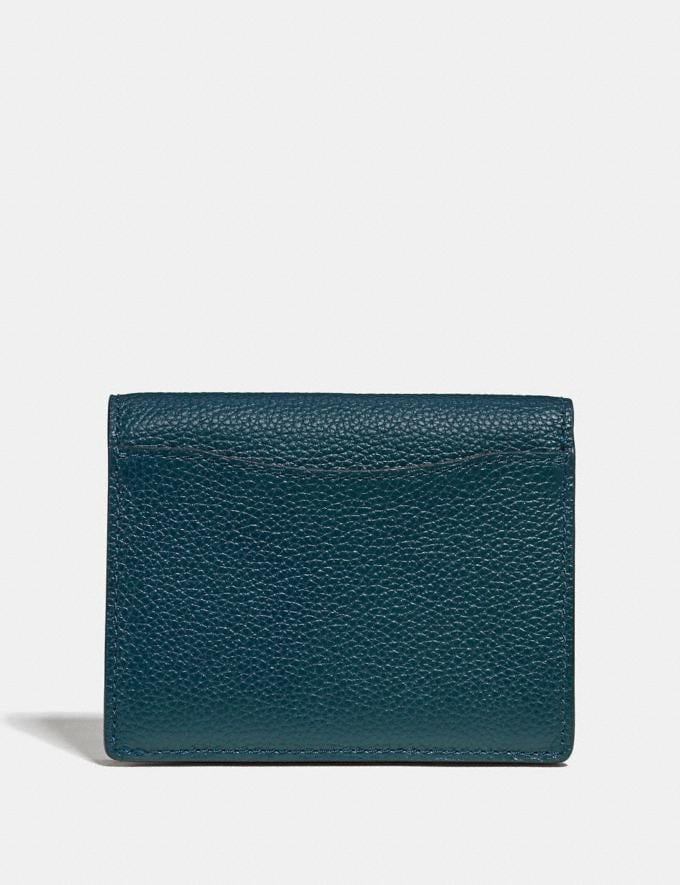 Coach Small Snap Wallet Peacock/Gold Women Small Leather Goods Small Wallets Alternate View 1