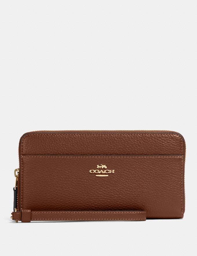 Coach Accordion Zip Wallet Im/Saddle 2 What's New