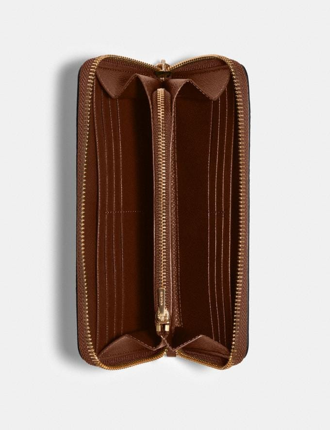 Coach Accordion Zip Wallet Im/Saddle 2 What's New Alternate View 1