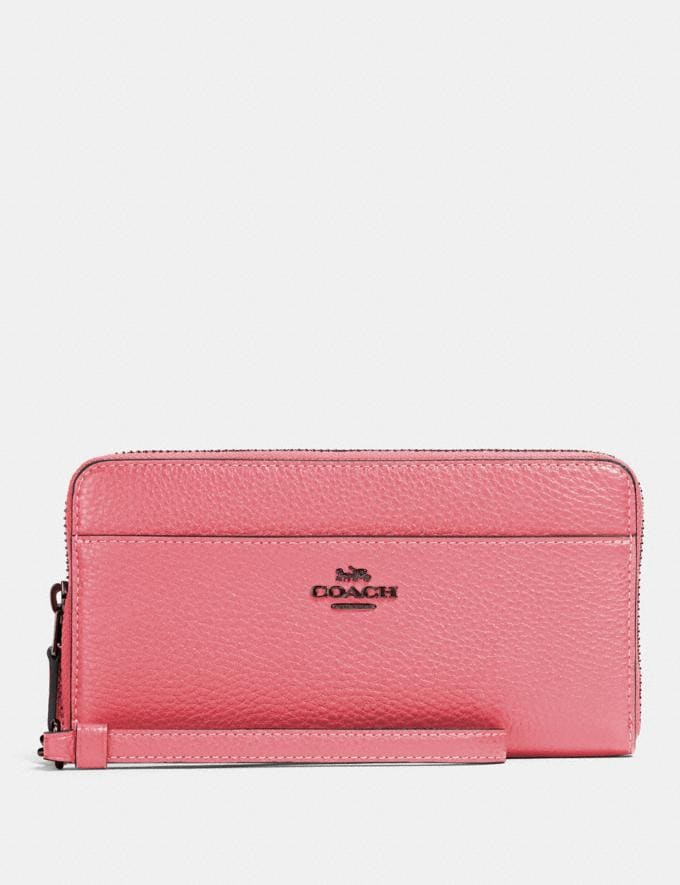 Coach Accordion Zip Wallet Qb/Pink Lemonade Gifts Gifts Gifts Under $100