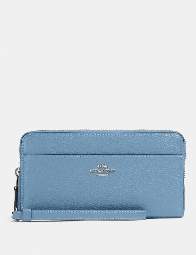 Coach Accordion Zip Wallet Sv/Slate Accessories Wallets