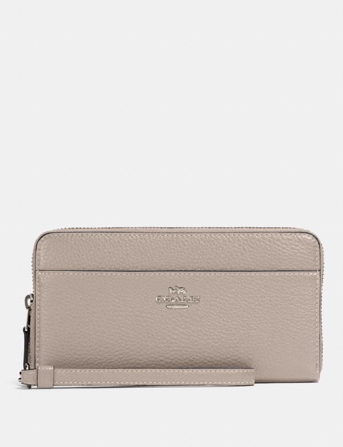 Coach Accordion Zip Wallet Sv/Grey Birch Clearance New To Clearance