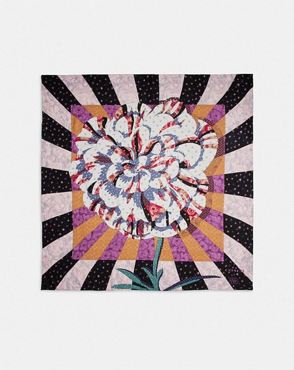 Coach PATCHWORK OVERSIZED SQUARE SCARF WITH KAFFE FASSETT PRINT