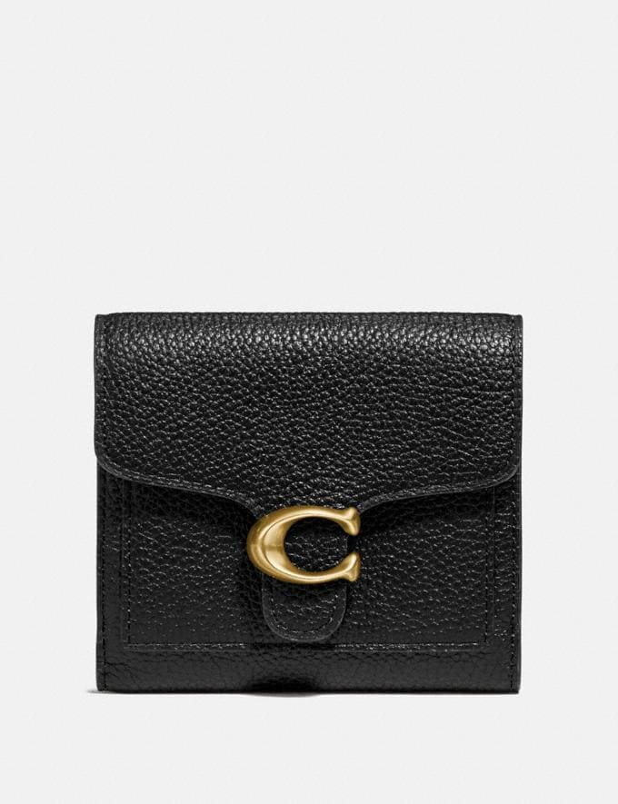 Coach Tabby Small Wallet Black/Brass Gifts For Her