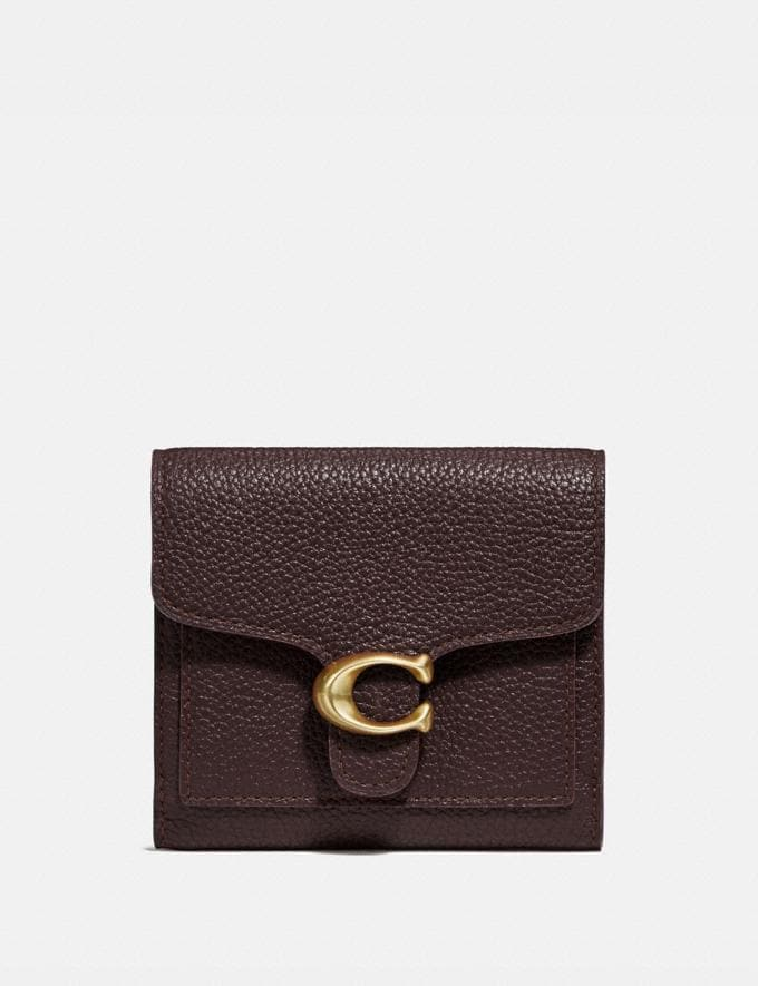 Coach Tabby Small Wallet Oxblood/Brass Women Collection Tabby