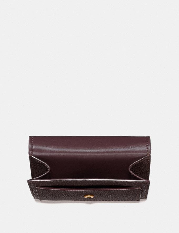 Coach Tabby Small Wallet Oxblood/Brass New Women's New Arrivals Wallets & Wristlets Alternate View 2