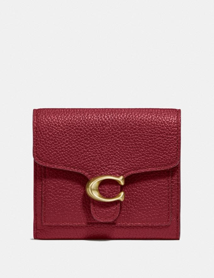 Coach Tabby Small Wallet Gd/Deep Red Women Small Leather Goods Small Wallets