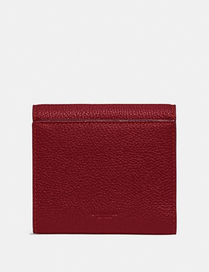 Coach Tabby Small Wallet Gd/Deep Red Women Small Leather Goods Small Wallets Alternate View 1