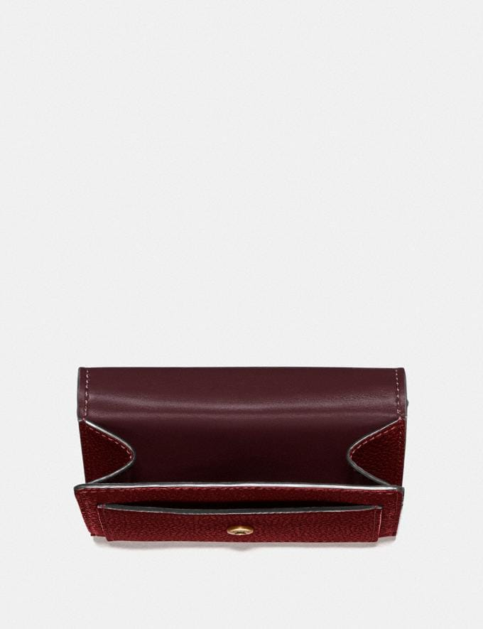 Coach Tabby Small Wallet Gd/Deep Red Women Small Leather Goods Small Wallets Alternate View 2