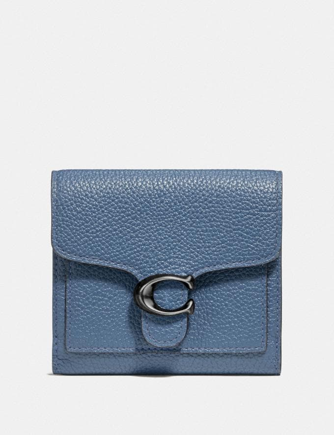 Coach Tabby Small Wallet Gm/Stone Blue SALEDDD Women's Sale Wallets & Wristlets