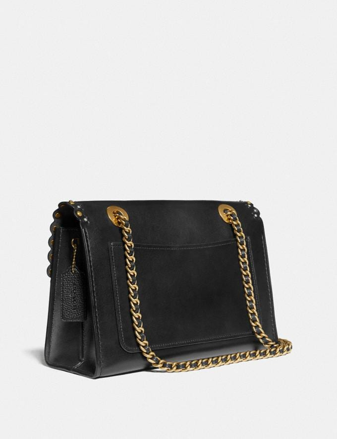 Coach Parker With Edge Scallop Rivets Black Multi/Brass Gifts For Her Under £500 Alternate View 1