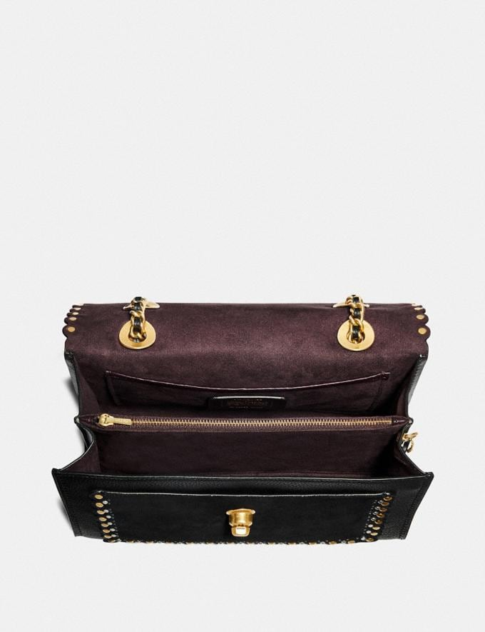Coach Parker With Edge Scallop Rivets Black Multi/Brass Gifts For Her Under £500 Alternate View 3