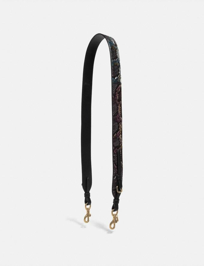 Coach Strap in Snakeskin Multicolor/Pewter Women Accessories Bag Straps