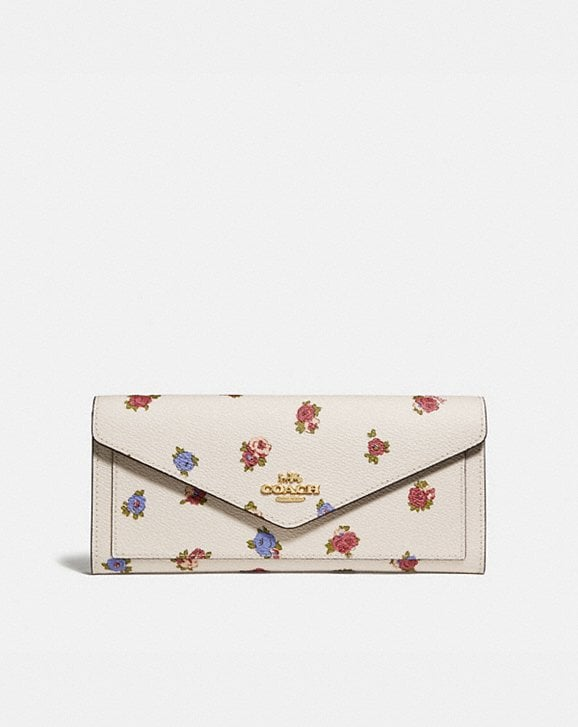 Coach SOFT WALLET WITH VINTAGE ROSEBUD PRINT