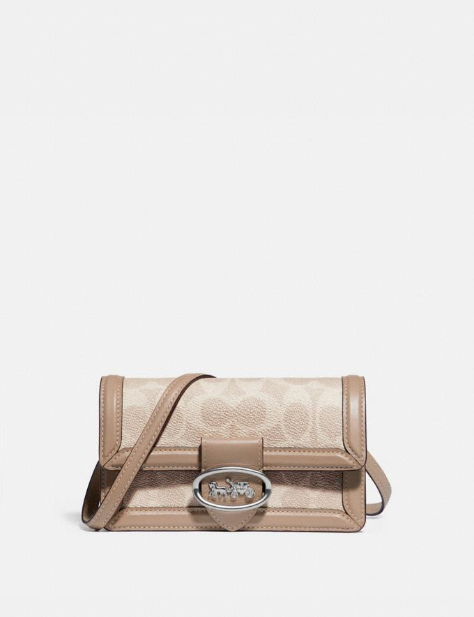Coach Riley Convertible Belt Bag in Colorblock Signature Canvas Lh/Sand Taupe Women Handbags Belt Bags