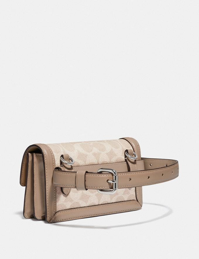 Coach Riley Convertible Belt Bag in Colorblock Signature Canvas Lh/Sand Taupe Women Handbags Belt Bags Alternate View 1