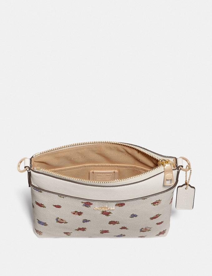 Coach Kitt Messenger Crossbody With Vintage Rosebud Print Chalk Multi/Gold Women Handbags Crossbody Bags Alternate View 1