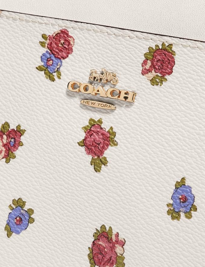 Coach Kitt Messenger Crossbody With Vintage Rosebud Print Chalk Multi/Gold Women Handbags Crossbody Bags Alternate View 3