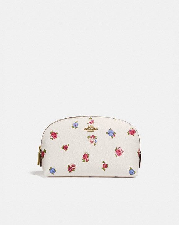 Coach COSMETIC CASE 17 WITH VINTAGE ROSEBUD PRINT