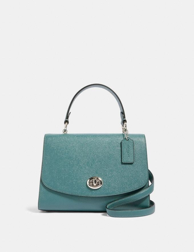 Coach Tilly Top Handle Satchel Sv/Dark Turquoise