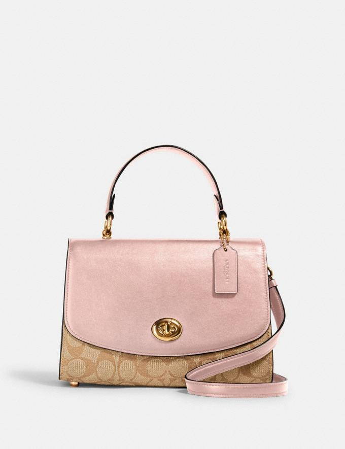 Coach Tilly Top Handle Satchel in Signature Canvas Im/Light Khaki Blossom 70% Off Steals