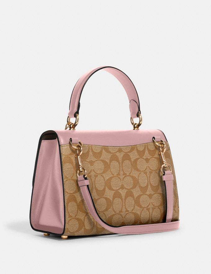 Coach Tilly Top Handle Satchel in Signature Canvas Im/Light Khaki Blossom 70% Off Steals Alternate View 1