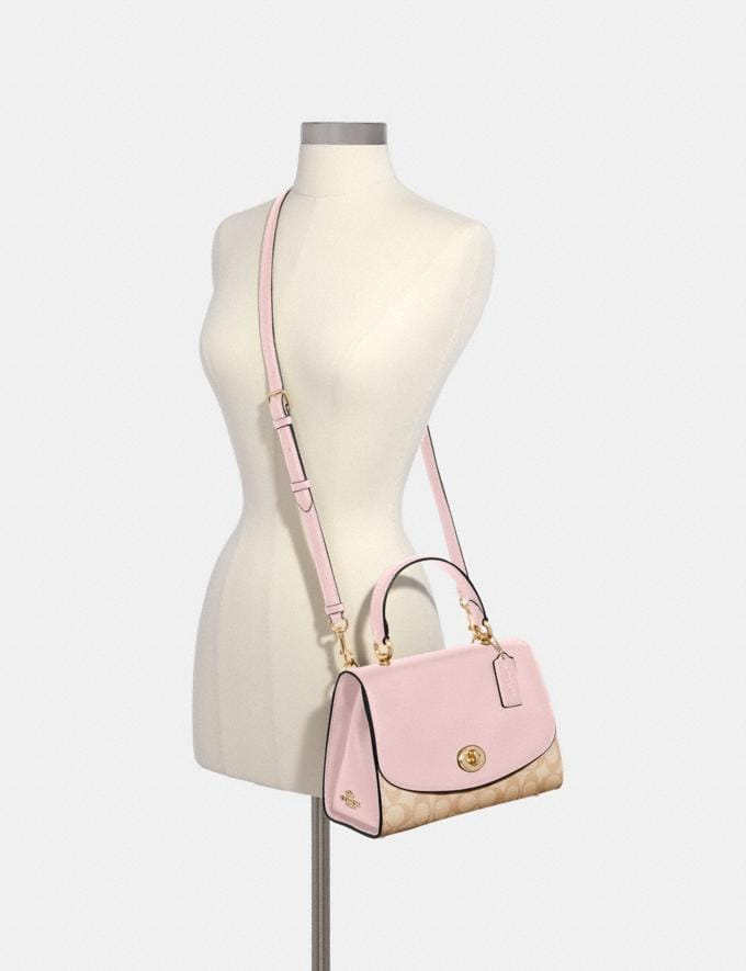 Coach Tilly Top Handle Satchel in Signature Canvas Im/Light Khaki Blossom 70% Off Steals Alternate View 3
