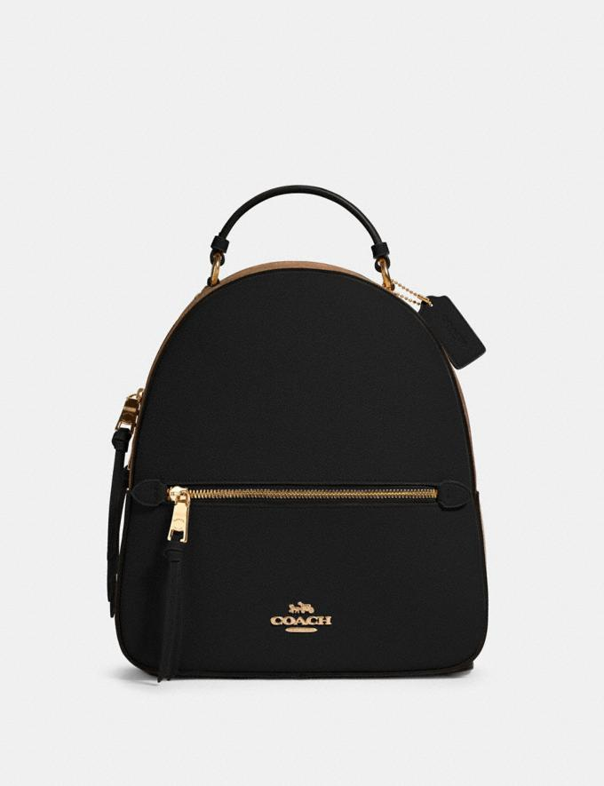 Coach Jordyn Backpack With Signature Canvas Detail Im/Khaki/Black Women Business Essentials
