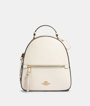 JORDYN BACKPACK WITH SIGNATURE CANVAS DETAIL