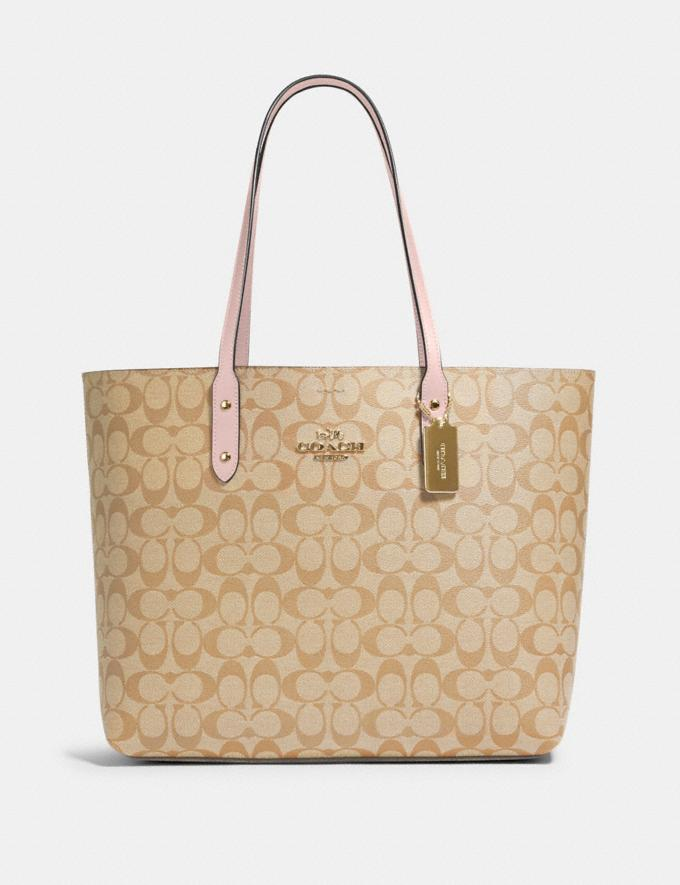 Coach Town Tote in Signature Canvas Im/Light Khaki Blossom Deals Deals Of The Week