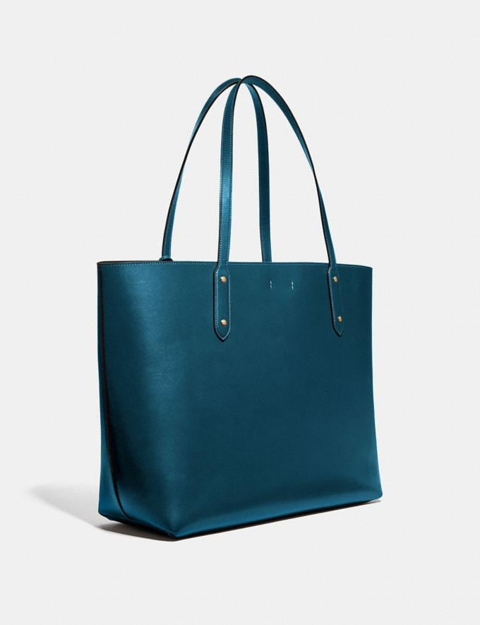 Coach Central Tote 39 Peacock/Gold Women Handbags Diaper Bags Alternate View 1