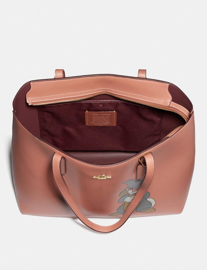 Coach Disney X Coach Central Tote With Zip With Thumper Motif Brass/Light Peach New Featured Disney X Coach Alternate View 2