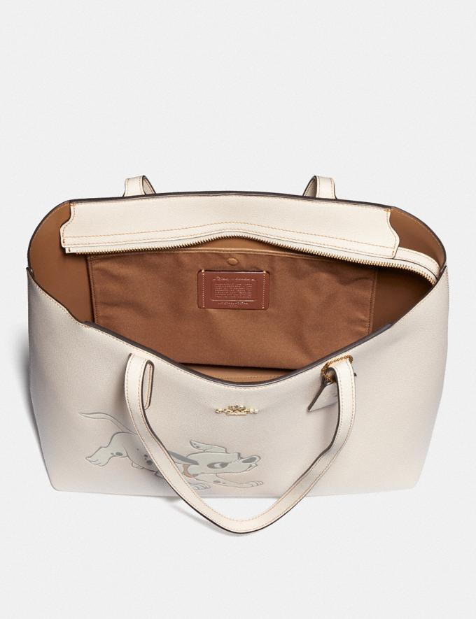 Coach Disney X Coach Central Tote With Zip With Dalmatian Motif Brass/Chalk New Featured Disney X Coach Alternate View 2