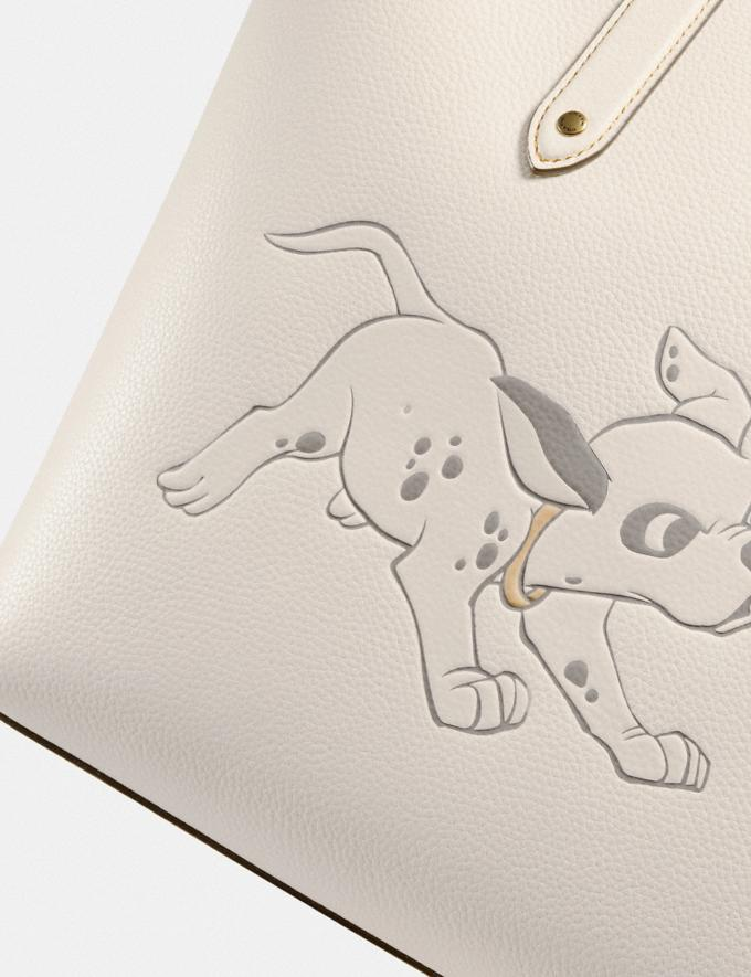 Coach Disney X Coach Central Tote With Zip With Dalmatian Motif Brass/Chalk New Featured Disney X Coach Alternate View 4