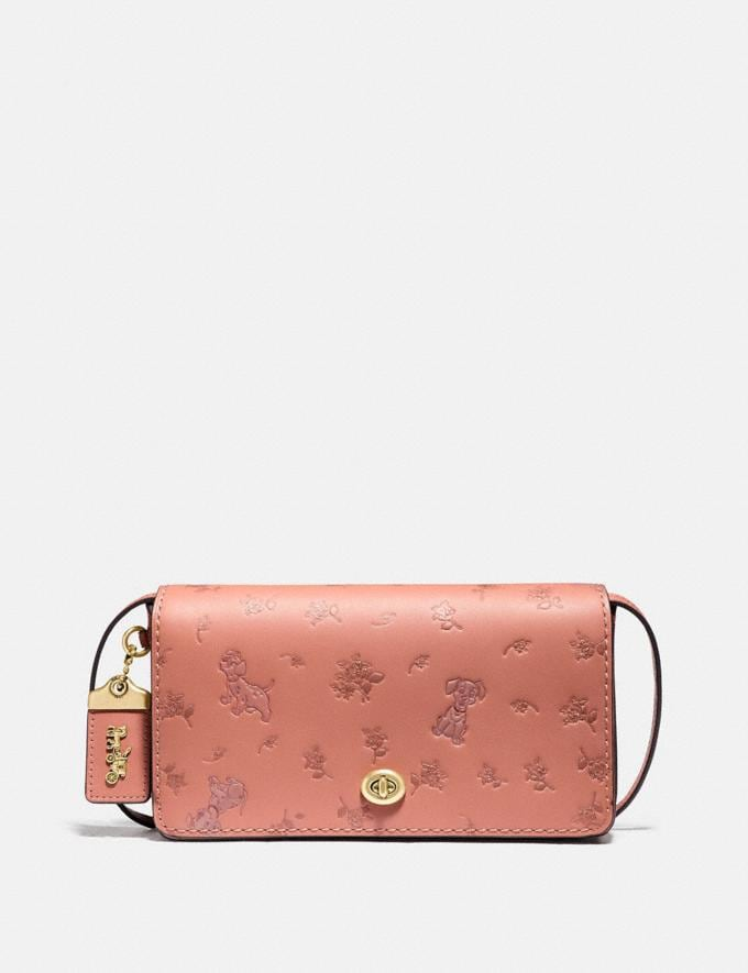 Coach Disney X Coach Dinky With Mixed Dalmatian Print Brass/Light Peach New Featured Disney X Coach