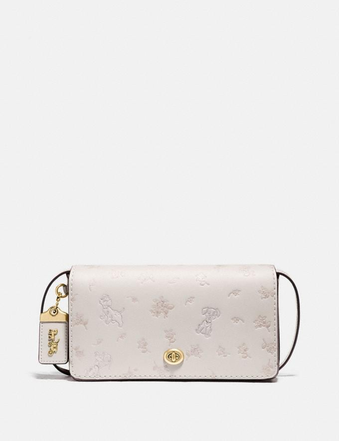 Coach Disney X Coach Dinky With Mixed Dalmatian Print Brass/Chalk New Featured Disney X Coach