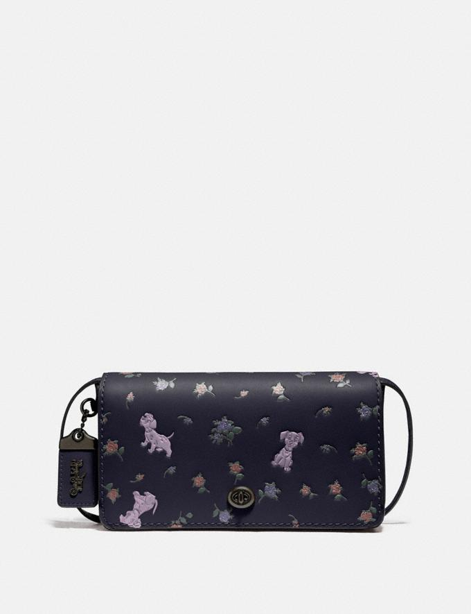 Coach Disney X Coach Dinky With Mixed Dalmatian Print Pewter/Ink New Featured Disney X Coach