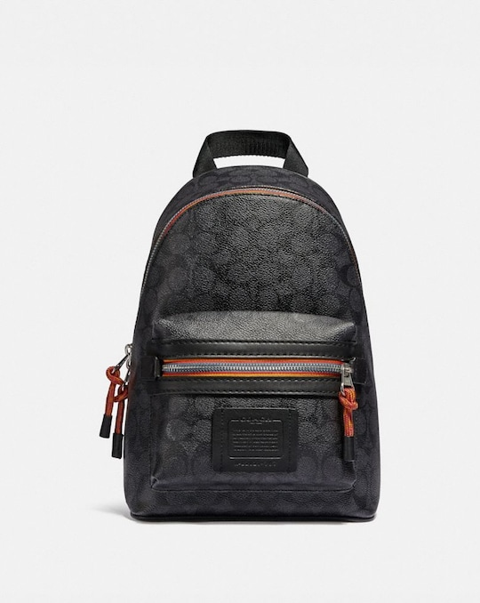 ACADEMY PACK IN SIGNATURE CANVAS WITH VARSITY ZIPPER