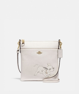 DISNEY X COACH KITT MESSENGER CROSSBODY WITH DALMATIAN MOTIF