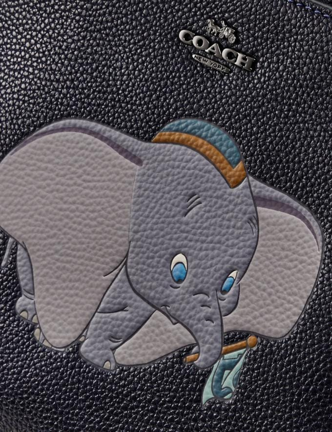 Coach Disney X Coach Kitt Messenger Crossbody With Dumbo Motif Pewter/Ink Women Handbags Crossbody Bags Alternate View 3