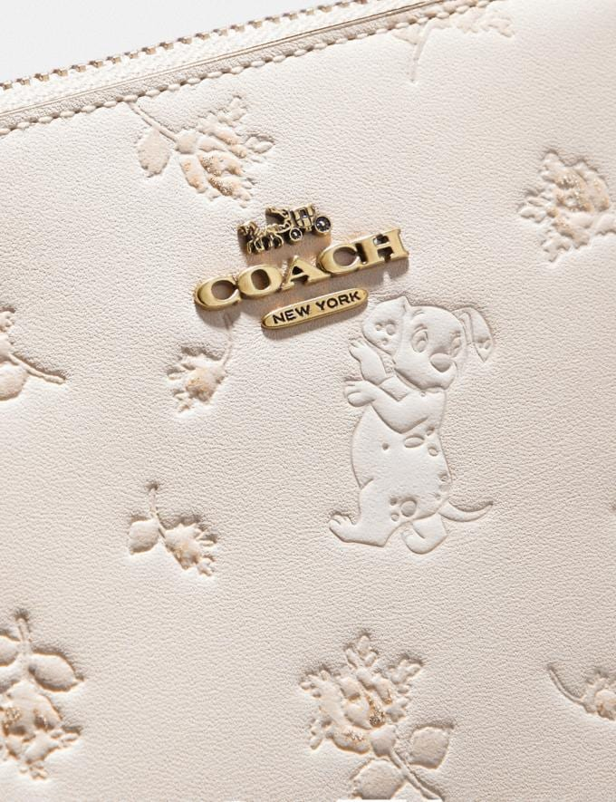 Coach Disney X Coach Charlie Pouch With Mixed Dalmatian Print Brass/Chalk New Featured Disney X Coach Alternate View 2