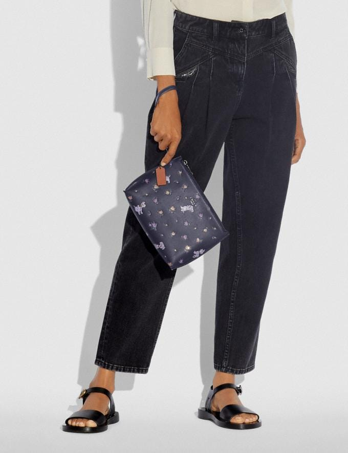 Coach Disney X Coach Charlie Pouch With Mixed Dalmatian Print Pewter/Ink New Featured Disney X Coach Alternate View 2