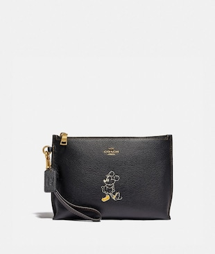 DISNEY X COACH CHARLIE POUCH WITH MINNIE MOUSE MOTIF