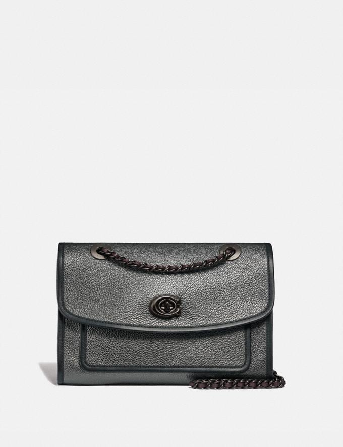 Coach Parker Metallic Graphite/Pewter Women Collection Parker