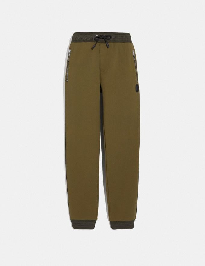 Coach Track Pants Olive New Men's New Arrivals Ready-to-Wear