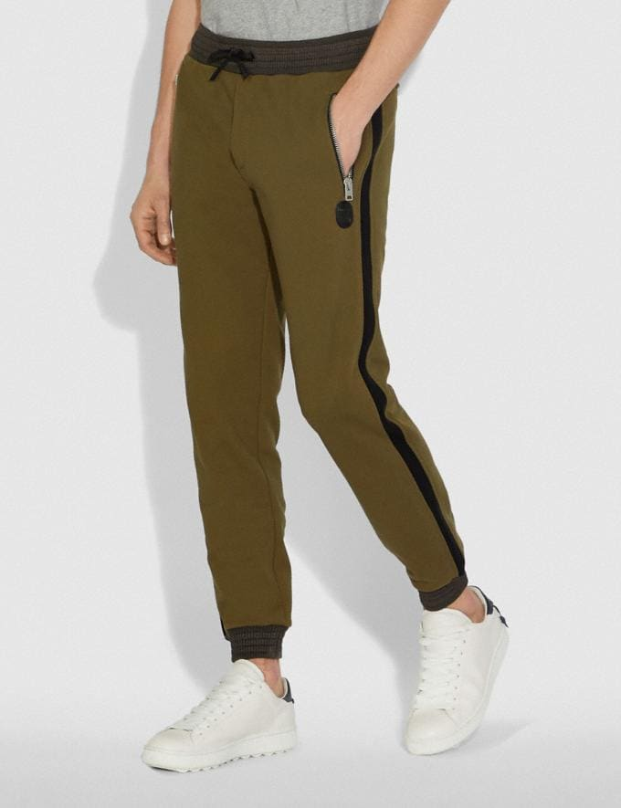Coach Track Pants Olive New Men's New Arrivals Ready-to-Wear Alternate View 1
