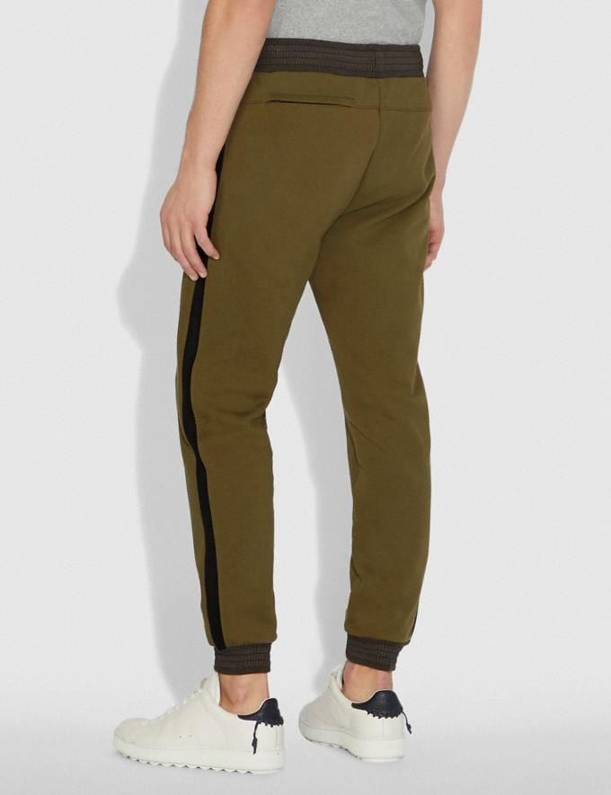 Coach Track Pants Olive New Men's New Arrivals Ready-to-Wear Alternate View 2