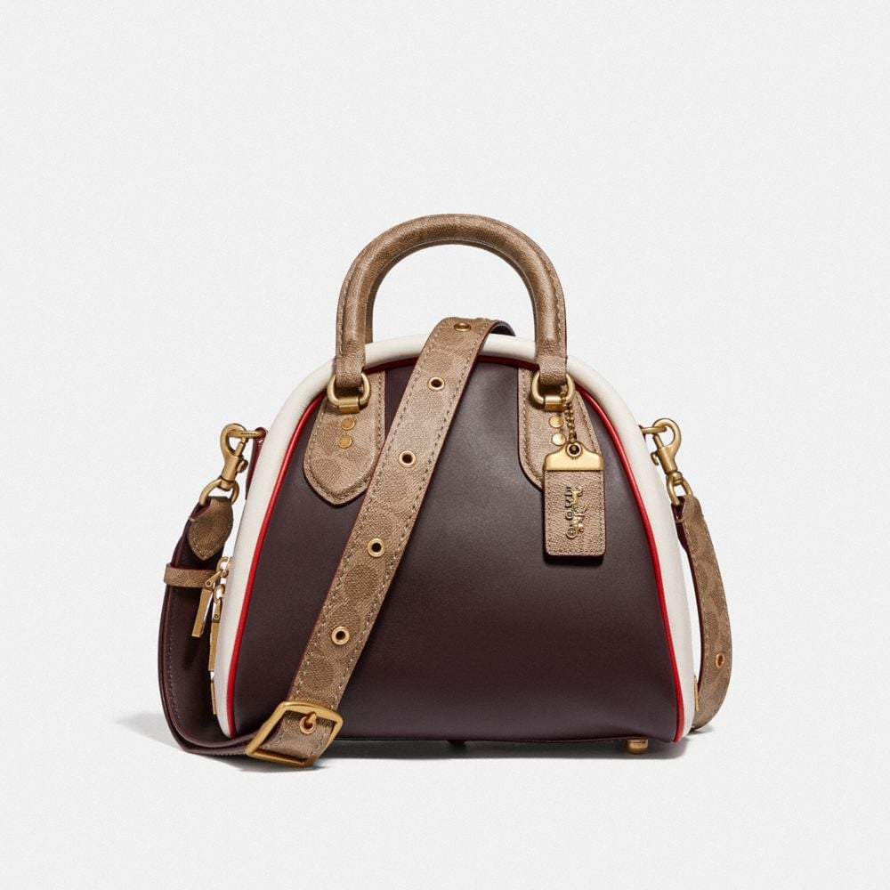 MARLEIGH SATCHEL IN SIGNATURE CANVAS