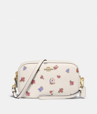 SADIE CROSSBODY CLUTCH WITH VINTAGE ROSEBUD PRINT